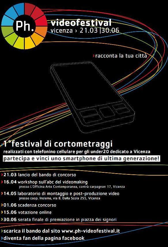 Ph.videofestival: 1° videofestival di cortometraggi realizzati con telefonino cellulare